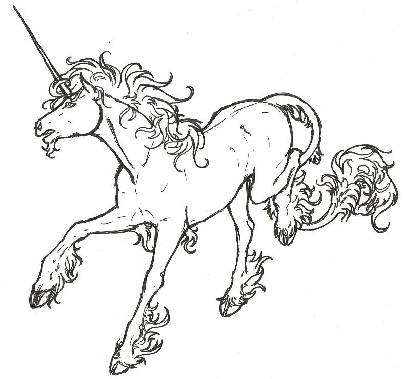 Dessin blanc de licorne page 2 - Licorne dessin ...