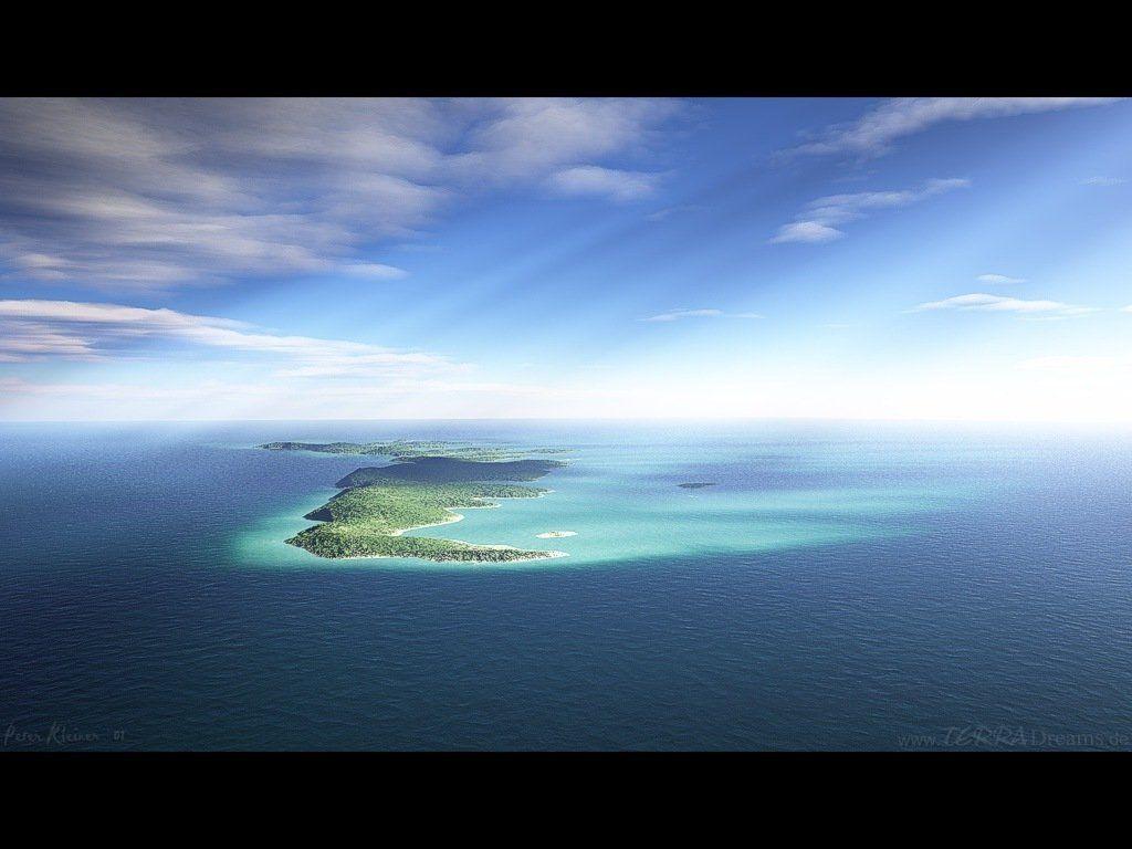 belle image beau paysage mer ile eau bleu turquoise
